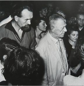 Ludwig Fellner und Oskar Kokoschka, Sommerakademie Salzburg
